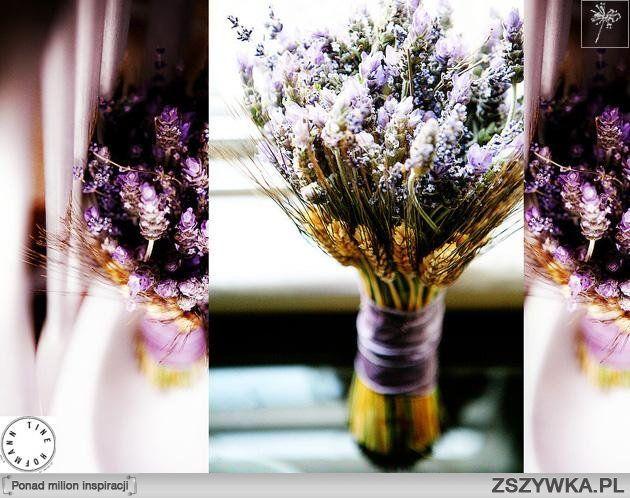 Zobacz zdjęcie bukiet ślubny - lawenda, zboże i inne kwiaty w pełnej rozdzielczości