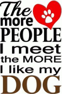 Silhouette Design Store - View Design #64690: the more i like my dog phrase