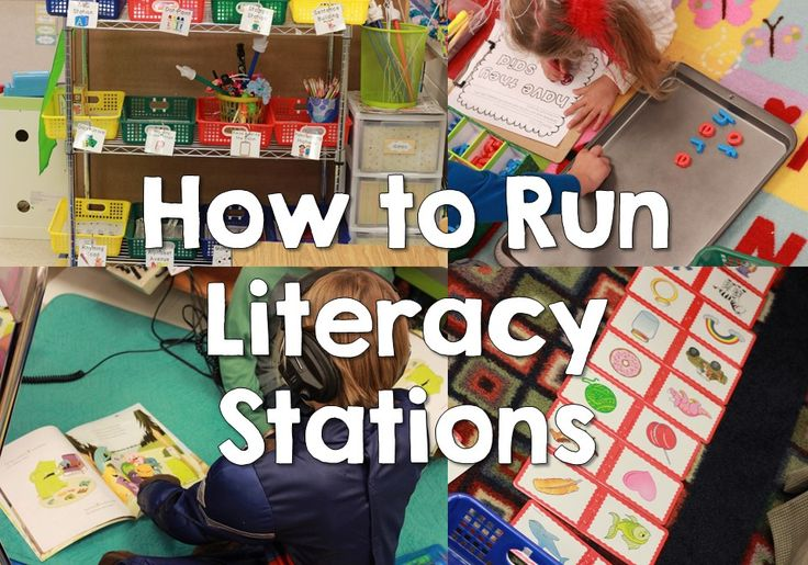 How to Run Literacy Stations by Elizabeth Hall of Kickin' It in Kindergarten