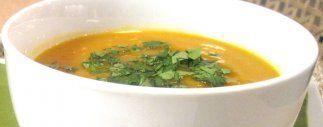 sopa de calabaza y jengibre