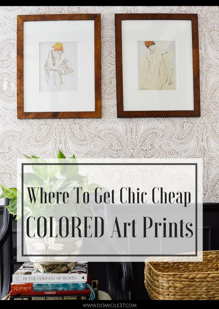 Chic Cheap Art Prints | DIY framed Calendar Prints | Where to get multiple art prints for cheap