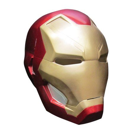Captain America 3 Iron Man 2 Pc Mask Adult Halloween Accessory, Size: Standard, Multicolor