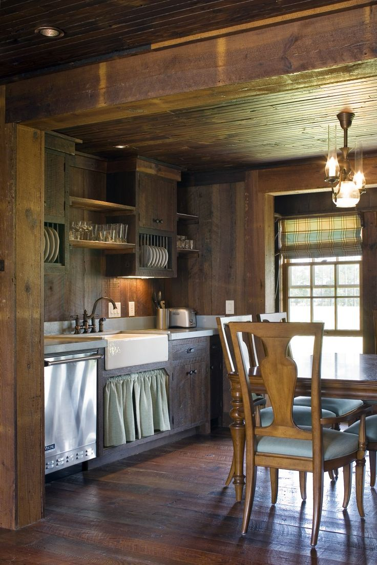 1000 ideas about small rustic kitchens on pinterest for Small rustic cabin interiors