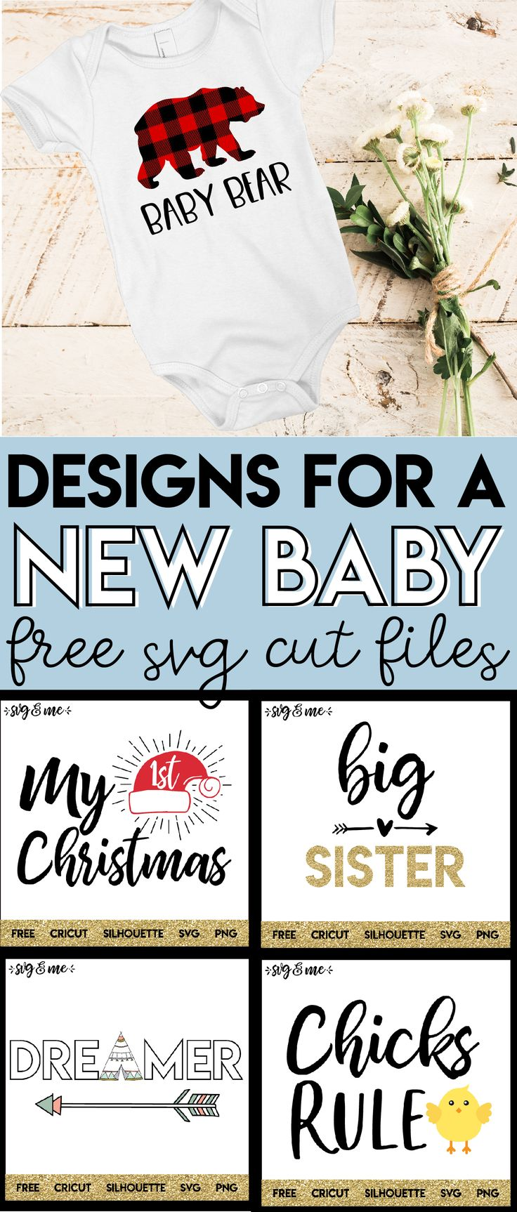 Can't wait to use my Cricut and these free SVG files to create a whole bunch of baby onesies for a baby shower gift! Adorable cut files at this site you need to check out! #cricut #svg #free