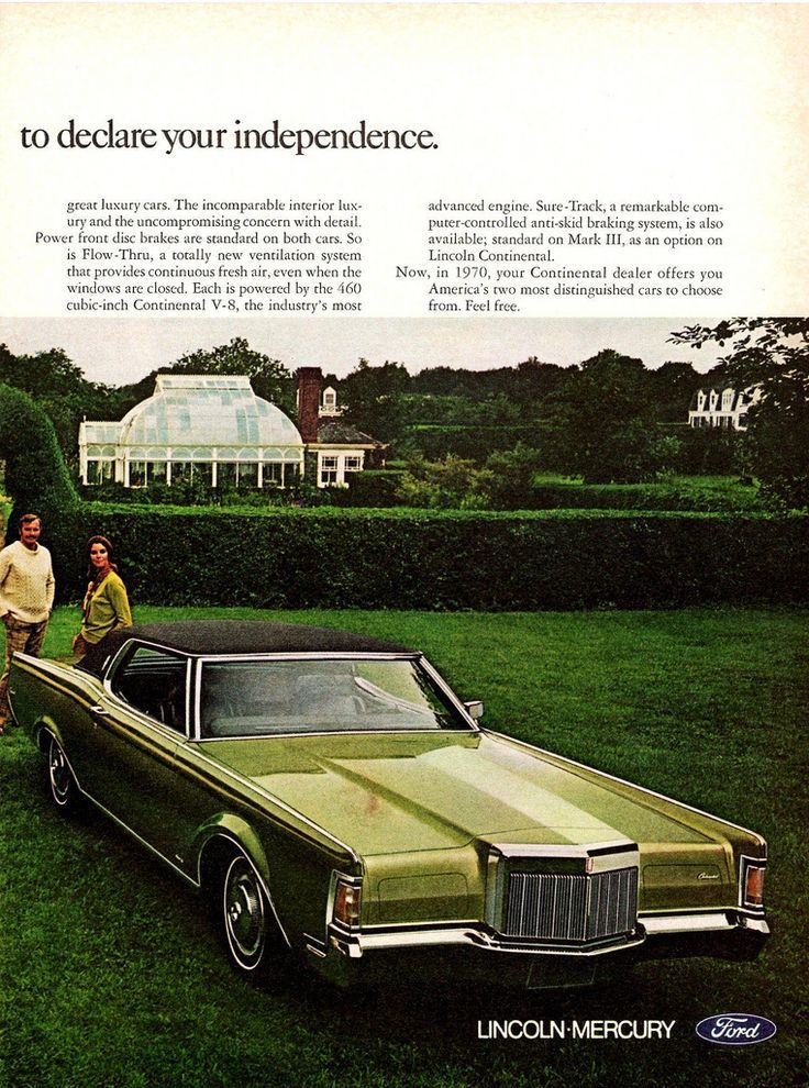 1970 lincoln continental continental mark iii ad pg 2 classiccars ctauto classic car ads. Black Bedroom Furniture Sets. Home Design Ideas