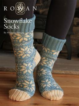 FREE knitting pattern Rowan snowflake socks christmas by Frederica Patmore