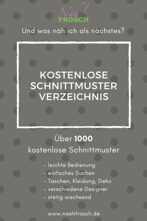 Das Freebook und kostenlose Schnittmuster Verzeichnis: Nähen mit über 1.500 Nähanleitungen – Steffi Müller