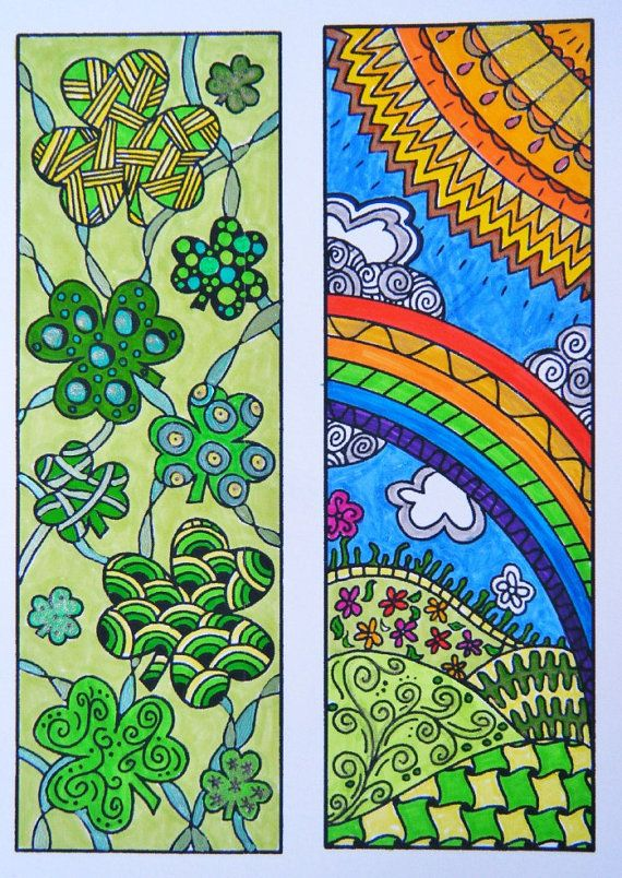 Zentangle Bookmark Flowers To Print And Color Adult
