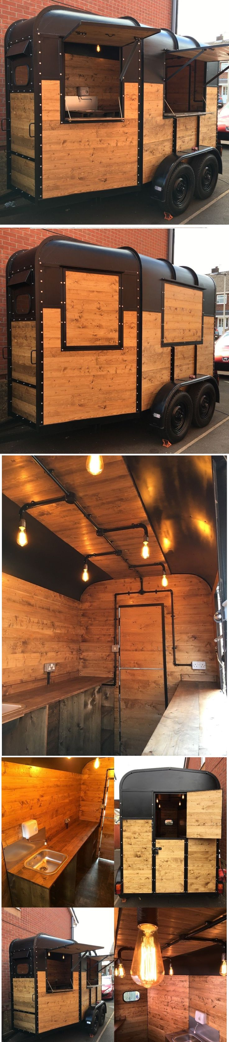 Beautiful handmade converted horsebox. http://www.ebay.co.uk/itm/Converted-Horsebox-Catering-Trailer-Mobile-Bar-Coffee-Burger-Van-Conversion-/272735106757?hash=item3f804776c5:g:cRAAAOSwjvJZUAvk #horsebox #catering #food #chic #shabbychic #business #wooden #coffee