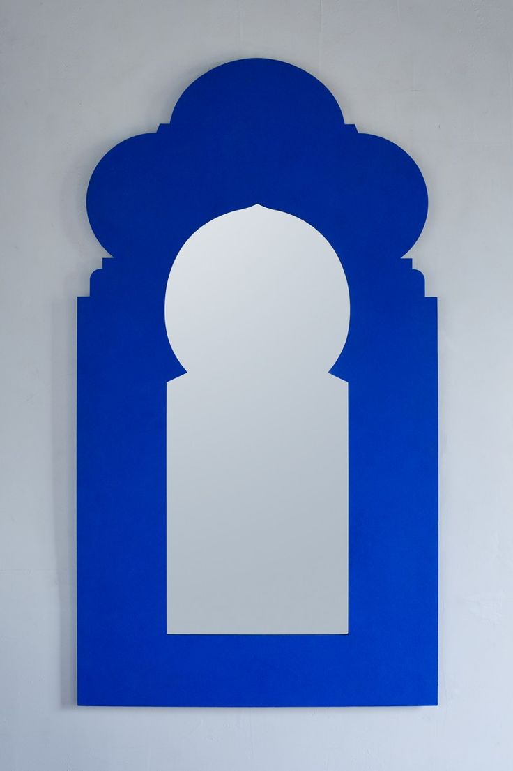 Williams sonoma home five panel beveled mirror - Sulay Mirror In Yves Klein Blue