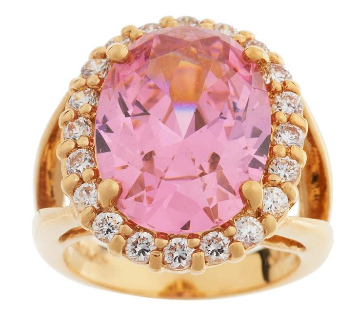 Jacqueline Kennedy Simulated Kunzite Ring