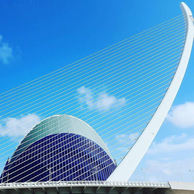 Net for the stars. #architecture #sky #blue #bridge #CACiencies #Valencia #Spain #españa