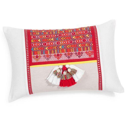coussin pompons en coton x cm omisha with maisons du monde marseille. Black Bedroom Furniture Sets. Home Design Ideas