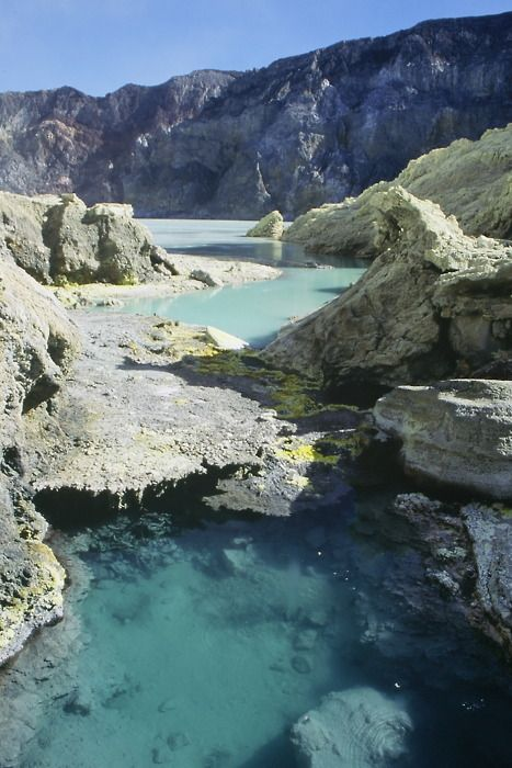 Ijen acid crater lake, Java, Indonesia