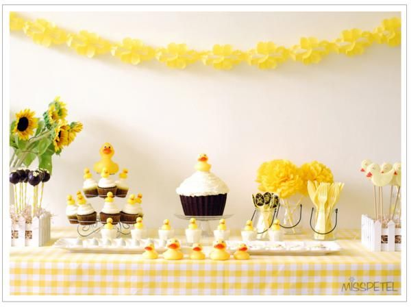 Yellow Ducky 2nd Birthday Party, Rubber Duck Party - Kara's Party Ideas - The Place for All Things Party