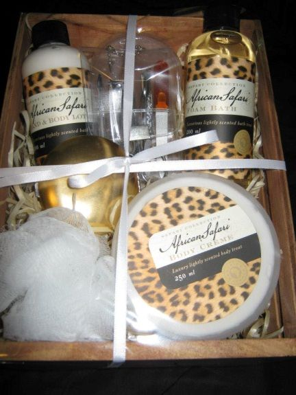 African sunset bath pamper set
