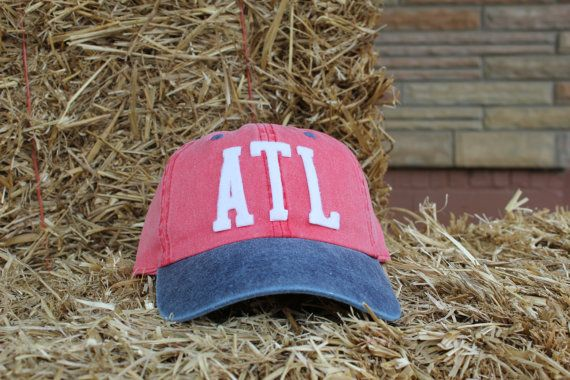 Airport Code, City Pride Atlanta GA Handmade Hat With Vintage Inspired Felt Letters