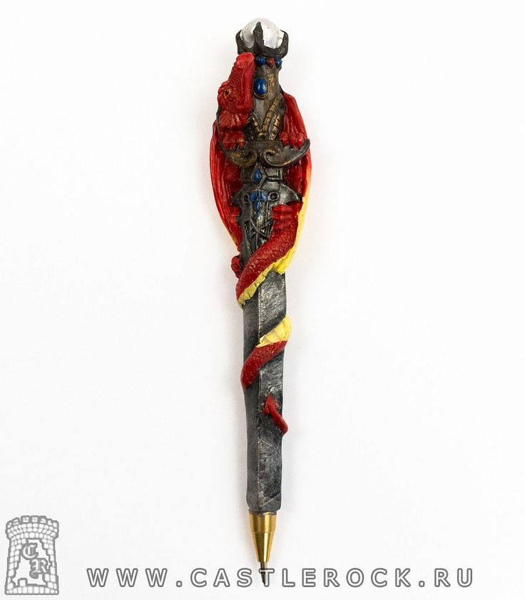 Ручка декоративная Дракон красный - Рок-магазин рок атрибутики Кастл Рок