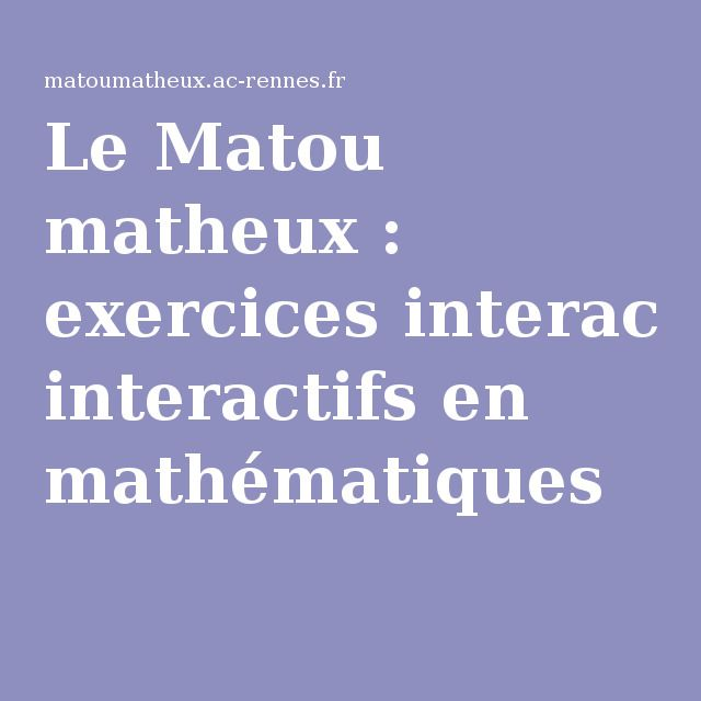 Top 25 ideas about matematica on pinterest geometry - Matou matheux table de multiplication ...