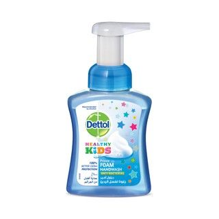 Dettol Healthy Kids Touch of Foam Hand Wash instant-foaming formula covers thoroughly and completely all parts of your hands for ultimate germ-protection, so your family stays healthy.