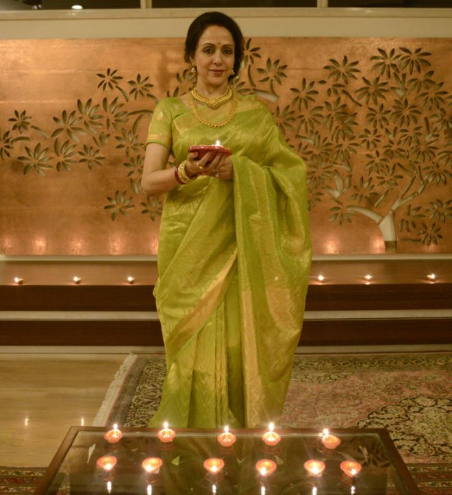 Hema Malini in a beautiful saree