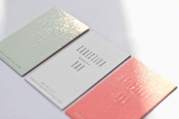 Christina Yan, Prop Stylist, Business Cards by Belinda Love Lee, via Behance