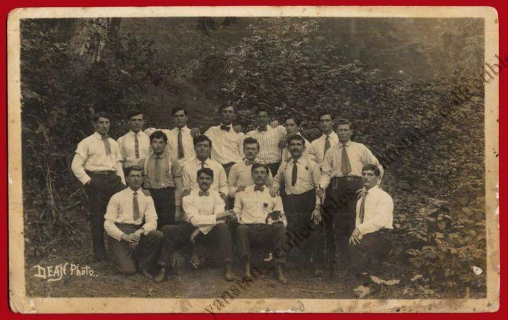 #23784 WASHINGTON USA 1920s. Men [Greek immigrants]. Photo PC size DEAN.