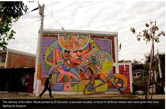 Open Air Museum, La Pincoya, Chile #Street #Art #political #graffiti