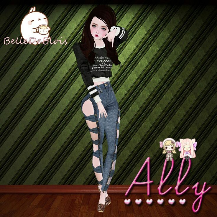 Visit the ally margarita shop    http://es.imvu.com/shop/web_search.php?manufacturers_id=106090427    Top:! !! This Thing Is Bad    http://es.imvu.com/shop/product.php?products_id=39706916    Jeans:! !! Jean Bows RL    http://es.imvu.com/shop/product.php?products_id=39019206    Hair:! !! Straight #Brown    http://es.imvu.com/shop/product.php?products_id=37544368    Earrings:! !! Panda Earrings    http://es.imvu.com/shop/product.php?products_id=38330738    Heels:! !! Leopard Heels II…