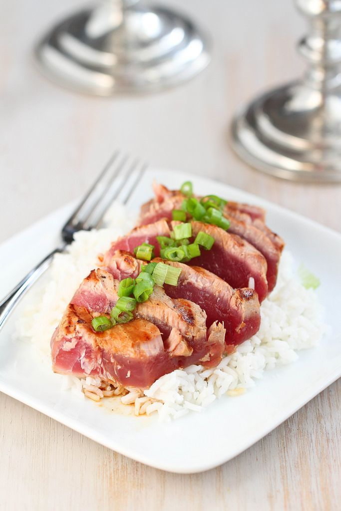 Grilled Soy-Ginger Ahi Tuna Recipe   cookincanuck.com #healthy #ValentinesDay