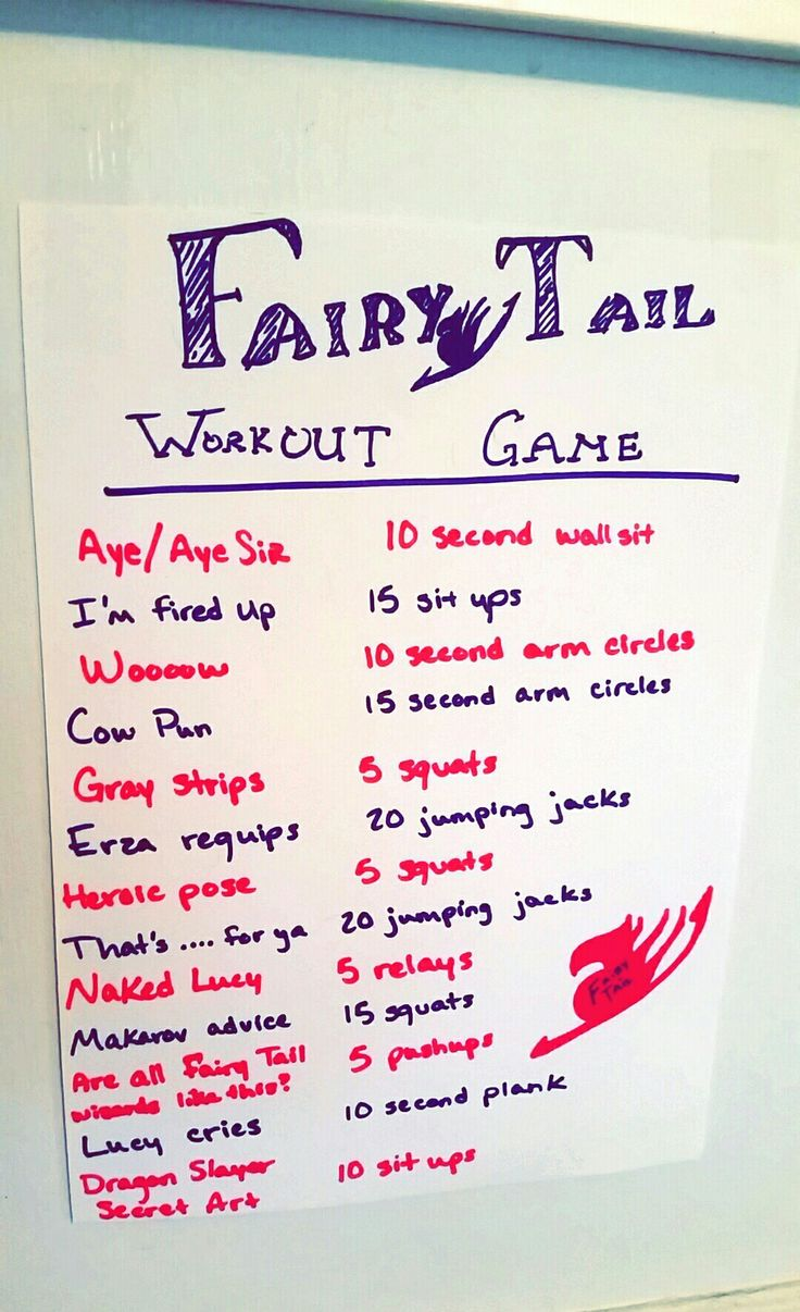 Fairy Tail Workout Game - If you're like me, you need this.