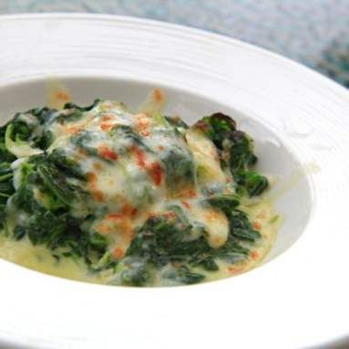 Sauted Spinach with Munster Cheese