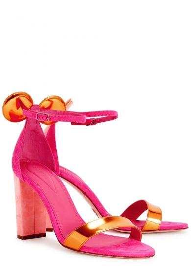 60056159ceb Oscar Tiye Minnie pink suede sandals