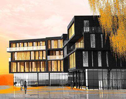 """Check out new work on my @Behance portfolio: """"Budynek mieszkalny wielorodzinny"""" http://be.net/gallery/37447013/Budynek-mieszkalny-wielorodzinny"""