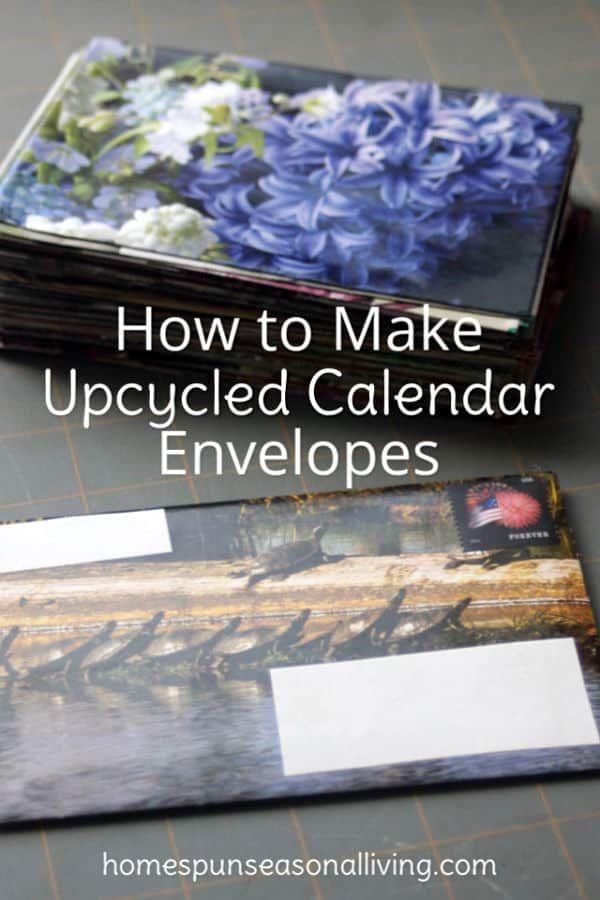 Wiederverwenden Sie den Kalender des letzten Jahres für den Versandbedarf des nächsten Jahres, indem Sie Upcycled Cale …