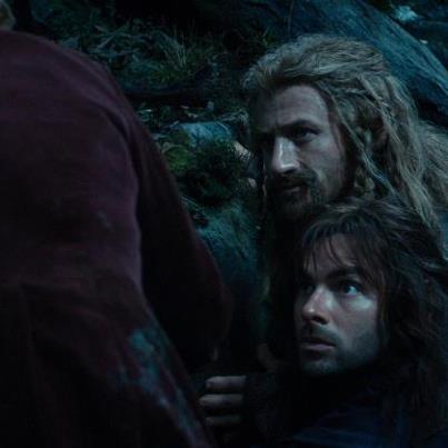 Fili & Kili look to Bilbo to solve their missing ponies problem #aidanturner #aidanturner