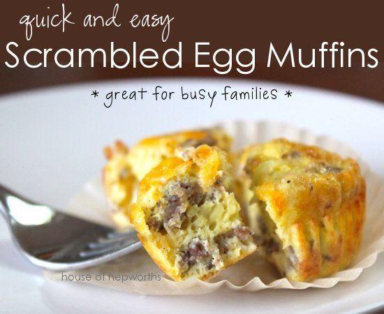 Scramble Egg Muffins breakfast sausage. | Breakfast | Pinterest