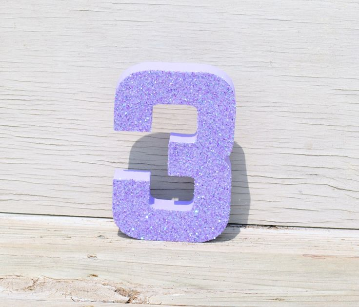 "8"" Purple Glitter Stand Up Decorative Birthday Numbers, Graduation, Anniversary, Wedding Reception Table Numbers, Photo Prop"