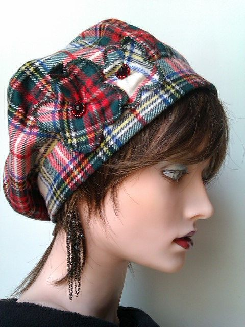 Scottish Tartan Fabric Hat by SatzDesigns on Etsy, $40.00