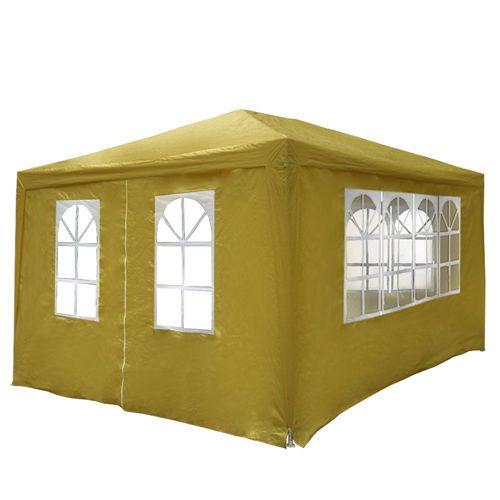 Tente de réception chapiteau jardin tonnelle barnum auvent pavillon 3x4m BEIGE