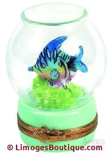 Fish Bowl: Aqua Base Limoges Boxes