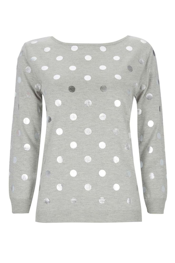 Grey Polka Dot Jumper - View All New In - New In - Wallis