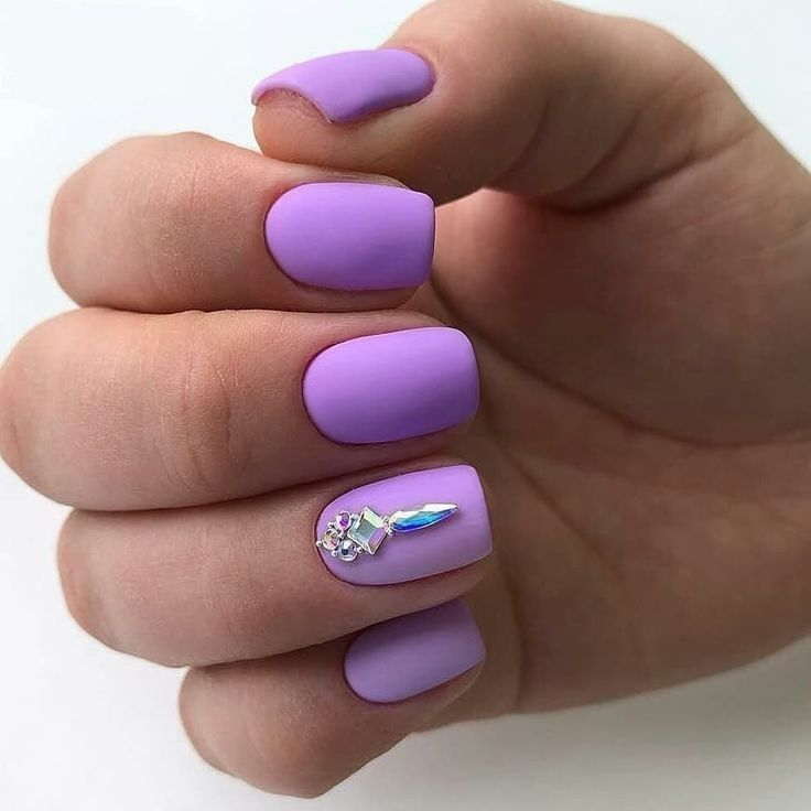 Nail Art 4241 Best Nail Art Designs Gallery Bestartnails Com Light Purple Nails Purple Acrylic Nails Short Coffin Nails Designs