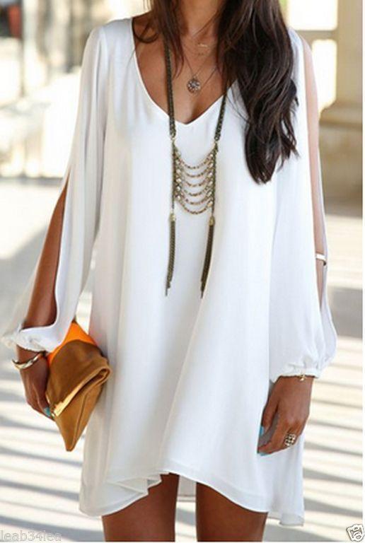 Tendance robes de soirée : robe de mousseline de soie blanche