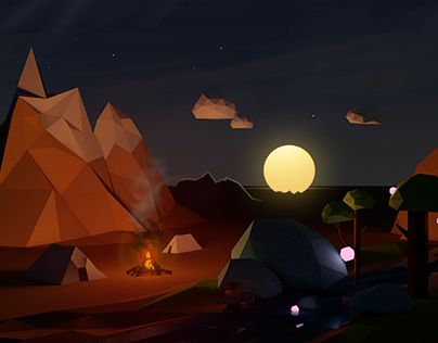 """Check out new work on my @Behance portfolio: """"lowpoly world"""" http://be.net/gallery/45559375/lowpoly-world"""