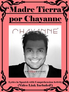 "Here is a wonderful song with music activity and dance activity to do with your students when you want to spice up your Spanish classes! This song, ""Madre Tierra"" by Chayanne is a fun and catchy song that the students will want to get up and dance to as well as to delve into the meaning behind the song."