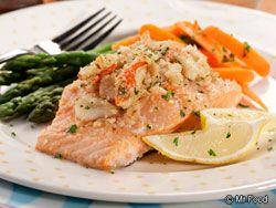 Crab Stuffed Salmon << might sub lump meat for the imitation stuff