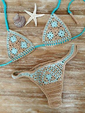 Crochet y lycra bikini es una pieza única hecha a mano con algodón y poliamida. Este bikini no ver a través de después de ir en el mar o la piscina, porque está forrado. Por favor, comentarlo con su tamaño exacto del sujetador y las caderas por lo que puedo hacer que el accesorio perfecto! Después de usar su traje de baño de crochet para un rato comienza a forma como tu cuerpo hermoso como nuestros materiales son elásticos. Todos los artículos de baño Devocean son hechos a mano y derechos…