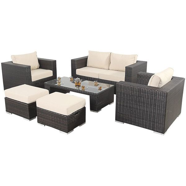 Port Royal Luxe Small Garden Sofa Set ($1,665) Liked On