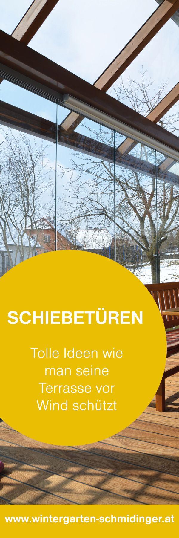 Schiebetüren - Optimaler Windschutz für Terrassen!